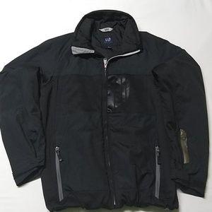 GAP black winter coat warm lined zip-up jacket